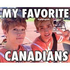 My favorite Canadians! Super Junior's Henry Lau & EXO-M's Kris :]