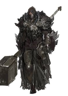 Epic hooded infantry with hammer and heavy armor, shield, boot and helmet fantasy art for dnd d&d rpg games Fantasy Character Design, Character Design Inspiration, Character Concept, Character Art, Fantasy Armor, Medieval Fantasy, High Fantasy, Dark Fantasy Art, Dnd Characters