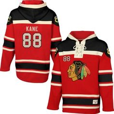 2322ebcf3 Youth Chicago Blackhawks Patrick Kane Old Time Hockey Red Wray Name    Number Pullover Hoodie