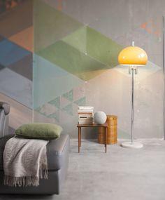 idee originali per decorare le pareti: pittura a triangoli di colori in degradè. Living Room, House, Home Decor, Houses, Decoration Home, Home, Room Decor, Home Living Room, Drawing Room