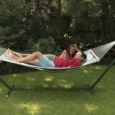 Texsport Sunset Bay Fabric Hammock with Steel Stand