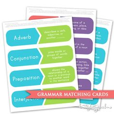 Play a matching game to reinforce parts of speech. (affiliate pin- I may receive compensation when you click on this pin)