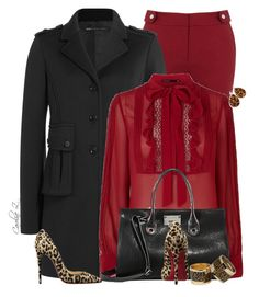 """""""Marc By Marc Jacobs Coat"""" by carolinez1 ❤ liked on Polyvore featuring Oasis, Marc by Marc Jacobs, Karen Millen, Jimmy Choo and Christian Louboutin"""