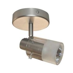 Hampton Bay 1-Light Brushed Steel Track Lighting Ceiling Fixture-EC334BA - The Home Depot