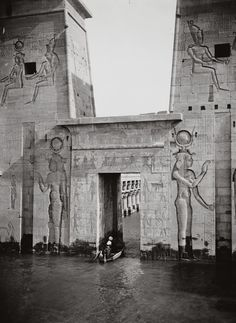 The Temple of Isis in the early 1920's