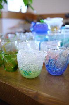 気泡の入った、ちょっと美味しそうな?ガラス器 : 器と珈琲 Lien~りあん~ 気泡の入った、色の綺麗なガラス器、 ちょっと、美味しそうではないですか?笑