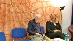 unsere gäste laufen sich schon mal warm (Helge Schweizer und Prof. Dr. Anneliese Wellensiek)