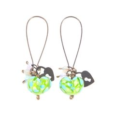 Your place to buy and sell all things handmade Turquoise Glass, Green Turquoise, My Etsy Shop, Drop Earrings, Trending Outfits, Heart, Unique Jewelry, Handmade Gifts, Check