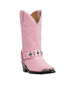 Laredo Kid's Little Concho Boots - Pink  http://www.countryoutfitter.com/products/29422-kids-little-concho-boots-pink #kidscowboyboots