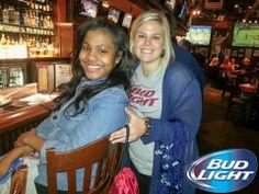 Enjoying themselves at the Bud Light promo! #BeerlovesTtown #BudLight