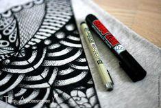 Рисовать может каждый! Расписываем майку в стиле зентангл - Ярмарка Мастеров - ручная работа, handmade