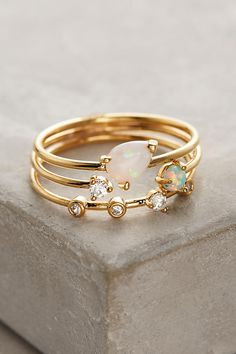 Anthroplogie.com opal stacking rings