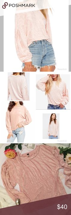 *HOST PICK* Free People Milan Velvet Layering Top Free People We The Free Milan Velvet Layering Top! Sumptuous in lush velvet in beautifully feminine blush pink, this dolman-sleeve top is a seriously cool update on the classic sweater. Comfy pullover featured in a luxe velvet, Pleat detailing on the sleeves, Rounded neckline, Perfectly distressed. We The Free is an exclusive, in-house label. Excellent condition new with tags. All items come from a pet and smoke free studio ‍ Free People…