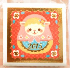 These are really beautiful Japanese stickers! Next year is the year of the sheep according to the Chinese Zodiac. These measure 3.5 x 3.5 cm.