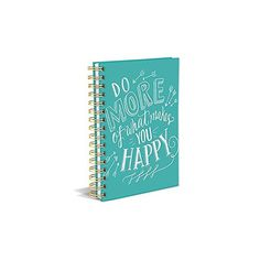 What makes you happy journal ($45) ❤ liked on Polyvore featuring home, home decor and stationery