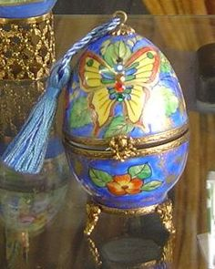 Limoges Porcelain Eggs for Easter - These eggs are really Limoges porcelain boxes in the form of an egg and can be used as a wonderful container for another gift; a gift within a gift. #Limoges