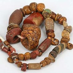 SKJ ancient bead art | ancient beads | antique beads | amber beads | coral beads LOVE these