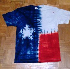Texas flag tie dye t shirt. Texas Shirts, Texas Flags, Tie Dye T Shirts, Tye Dye, Baby Boy Shower, The Originals, July 4th, Spring Break, Creativity
