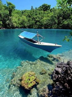 Beautiful clear waters in North Maluku, Indonesia