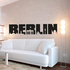 Berlin ist die Bundeshauptstadt Deutschlands und mit ihren vielen Sehenswürdigkeiten aus der DDR Zeit immer eine Reise wert. Wenn du also auch ein Fan von der Bundeshauptstadt bist, dann bestell noch heute die Skyline von Berlin in unserem Shop. #Berlin #Skyline #Wadeco //  http://www.wadeco.de/berlin-skyline-3-wandtattoo.html