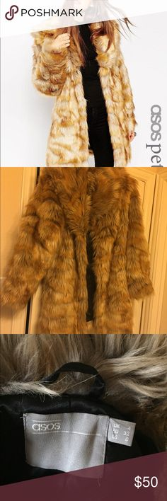 ASOS vintage faux fur coat size small Barely worn and super warm. The photo says petite but it's actually not petite ASOS Jackets & Coats