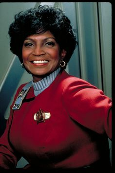 """Commander Uhura to you, mister!"" My first crush! #uhura #nyota #startrek #communications #ncc1701 #ussenterprise #becarefulwhatyouwishfor"