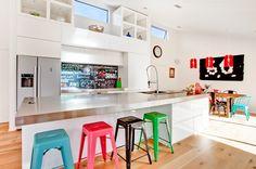 fun stools - contemporary kitchen by Lucy G Creative NZ Photography  Splashbacks