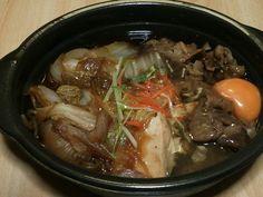 夕食にホットモットの「すき焼き弁当」 料理だけの注文で\500-。 美味しい味に大満足…!!