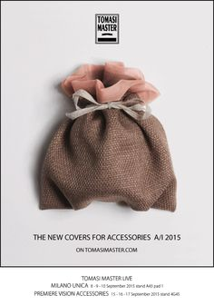 Tomasi Master The new covers for accessories AI 2015 Smart Packaging, Fashion Packaging, Thing 1, Wooden Hangers, Winter Hats, Cover, Accessories, Ornament