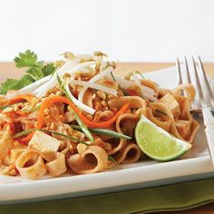 Lean Tofu Pad Thai - Clean Eating - Clean Eating (NOTE: omit fish sauce and add 1tbsp natural peanut butter)