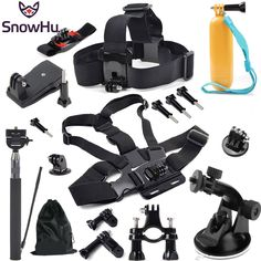 18.27$  Watch now - SnowHu For go pro Accessories Head chest strap bracelet Monopod with Mount Adapter for GoPro Hero 5 4 3 3+ SJ4000 xiaomi yi GS07  #buymethat