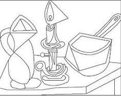 """Colorear """"La olla esmaltada"""". Picasso. Pablo Picasso, Kunst Picasso, Picasso Art, Coloring Books, Coloring Pages, Contour Line Drawing, Art Sub Plans, Art Worksheets, Scandinavian Art"""