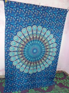 Indian bedspread Wall Hanging tapestry Bedspread Throw Hippy home wall Decor art