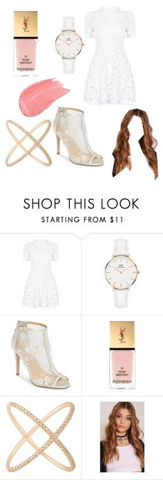 """Thaïs"" by vuillemin-tata on Polyvore featuring Daniel Wellington, Bella Belle, Yves Saint Laurent et Eva Fehren"