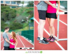 Or the tracks: | 23 Awesomely Athletic Ideas For Engagement Photos