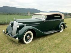1936 Packard Eight Phaeton:  i owned this beautiful automobile from 1958 till 1988.  it is a 7 passenger, model #1402 with a Dietrich body.  the color is original to this auto.