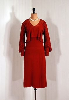 1920s crepe rayon dress