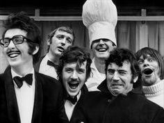 Monty Python: Eric Idle, Graham Chapman, Michael Palin, John Cleese, Terry Jones and Terry Gilliam.