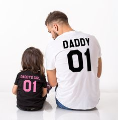 Daddy daddy's girl father daughter matching shirts Daddy