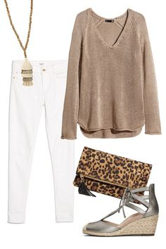 I love this look!  Keep it Simple -Ways To Style Your Vionic Shoes! WomansDay.com