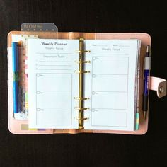 Personal Goal Planner Inserts  Rosa Collection  Fits Kikki K