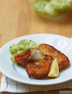 Zarter Fisch in knusprigem Bierteig! So schmeckt das gute Leben!
