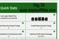 Day 39. Getting paid every 20 minutes. Watch me or join me. Www.mapswithlee.com