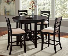 shop for a hallie 5 pc counter height dining set at rooms to go find dining room sets that will. Black Bedroom Furniture Sets. Home Design Ideas