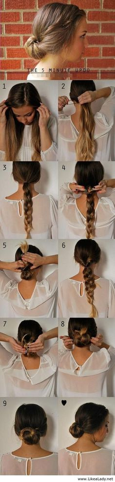 This Is So Pretty #5MinuteUpdo #Hair