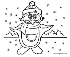 Winter coloring pages penguin for kids, seasons coloring pages printable free