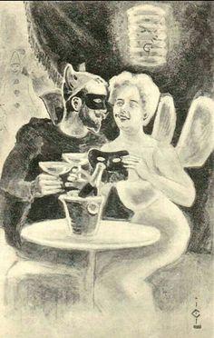 Humorkort maskeradeball Gustav Lærum utg John Fredriksons Kunstforlag tidlig 1900-tall