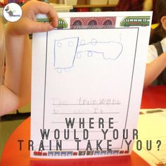 Write about your own train ride! Where would you go and what would you see? Eyfs Activities, Train Activities, Writing Activities, Transport Topics, Reception Activities, Transportation Theme, School Plan, Early Reading, Writing Challenge
