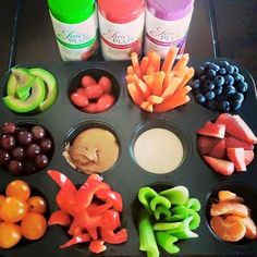 Easy snacks. Fruits and veggies.  #lovefruitsandveggies
