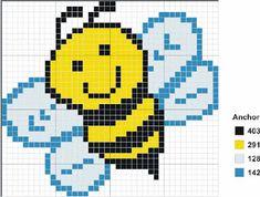 Bee Pixelated Afghan Pattern.